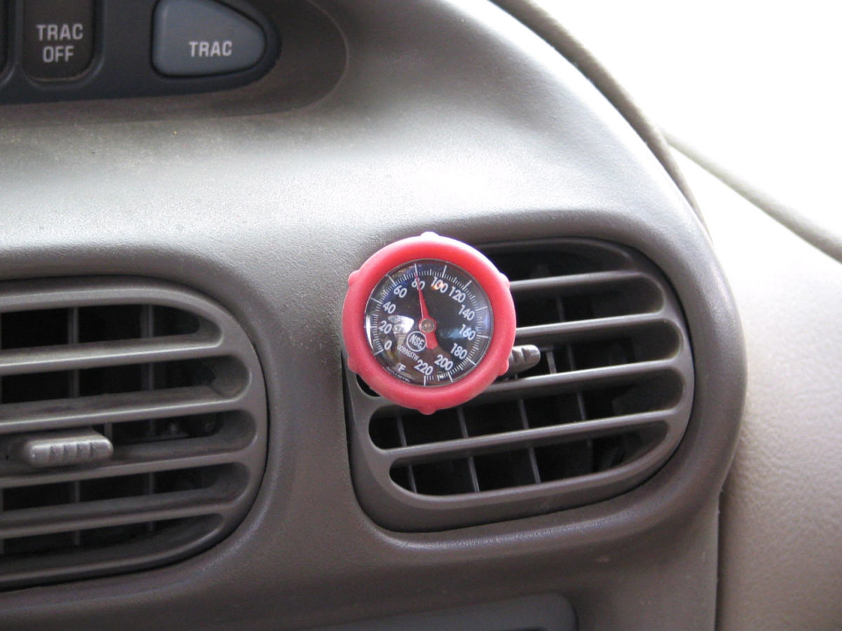 Air temperature at 60 degrees, indicating need for freon recharge.