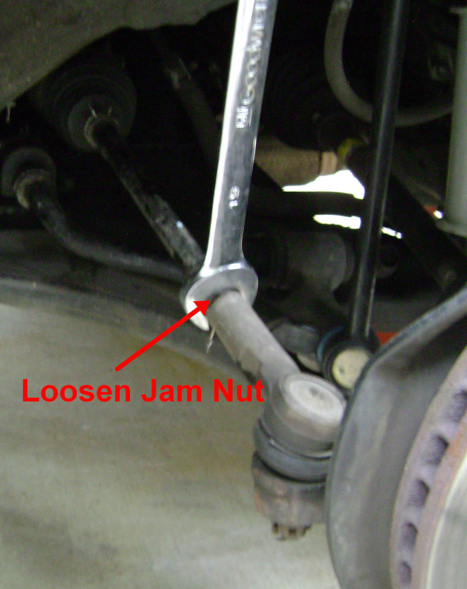 Camry Jam Nut loosening procedure