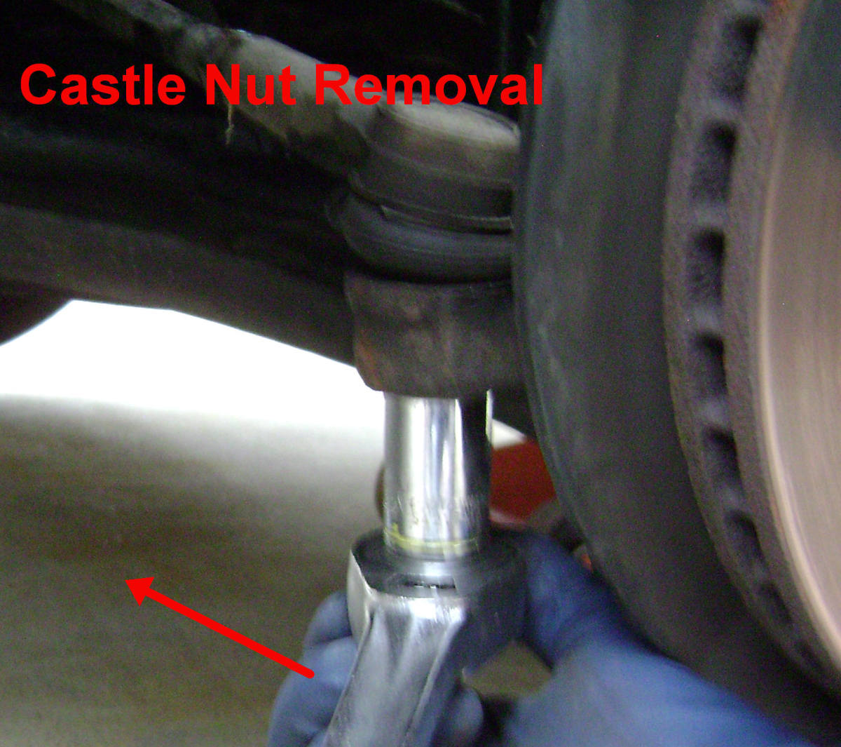 Camry outer tie rod castle nut removal