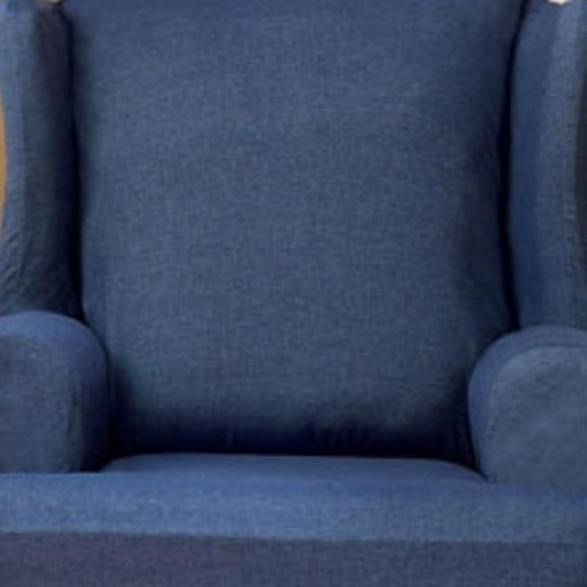 Denim Fabric slipcovers for the captains' chairs seems a budget-friendly, durable and washable choice for upgrading the dingy seats. And I think Elvis would approve.