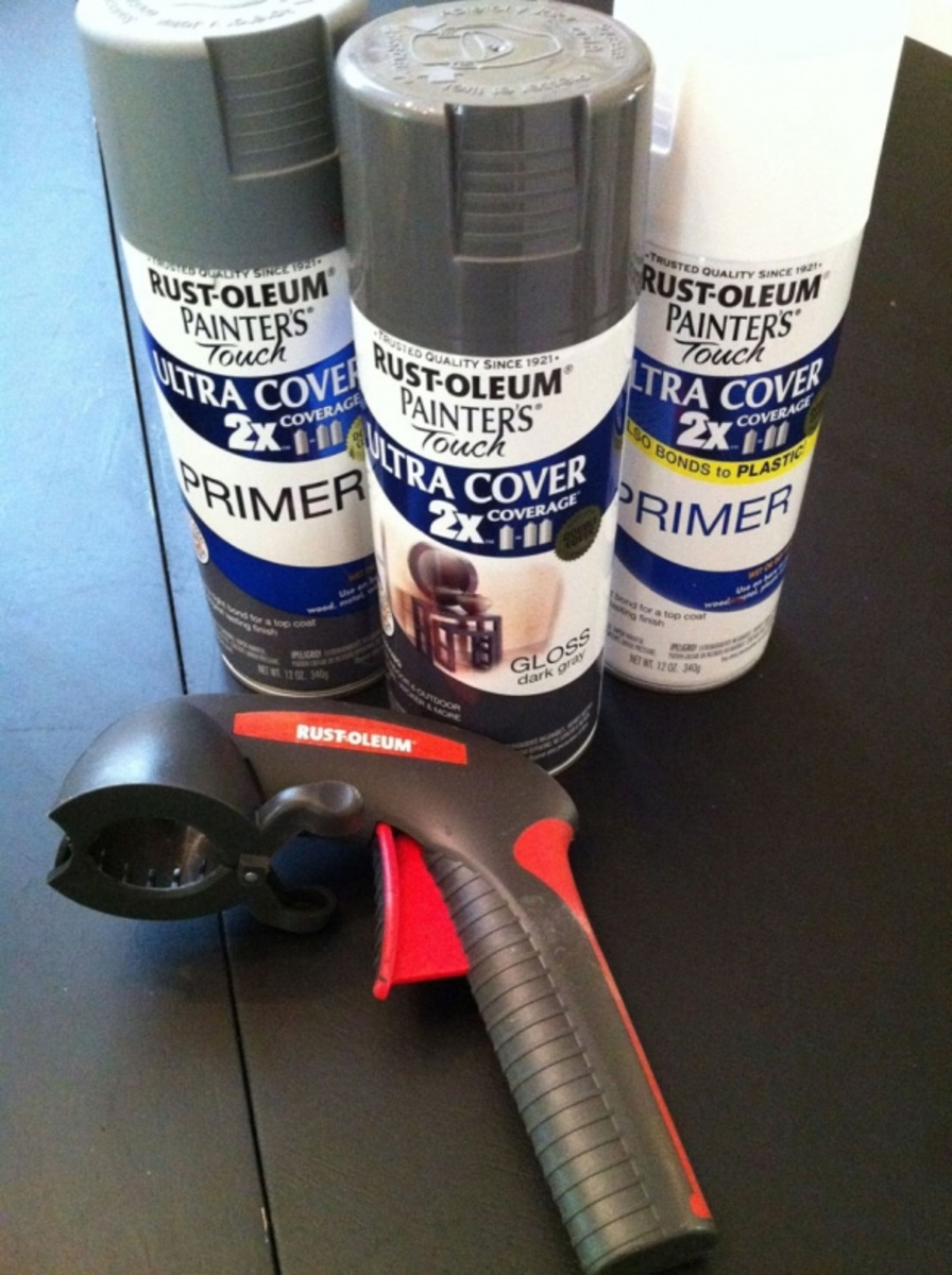 "Rustoleum now offers an ""Ultra-cover"" spray paint that is advertised to bond to plastic as well as other challenging surfaces. Just to be safe, I'm still using a primer first on the vinyl wallboard that I can't sand. These spray paints & primers"