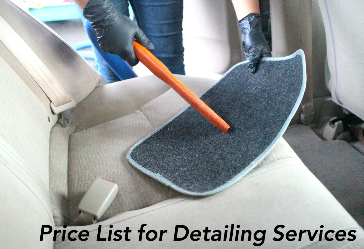 Average detailing services range in price from $12 for a hand wash to $150 for small dent removal.