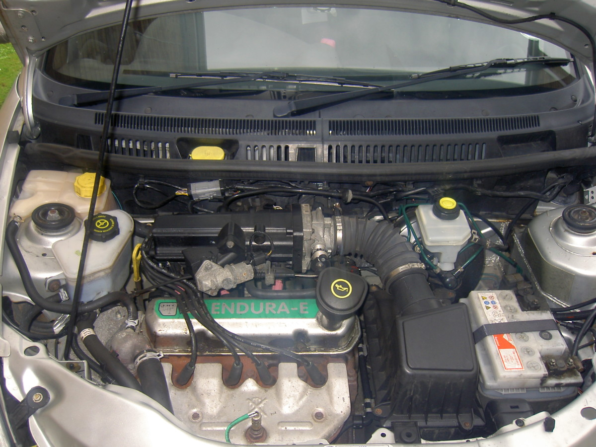 Engine Bay Prior To Removal Of Trim.
