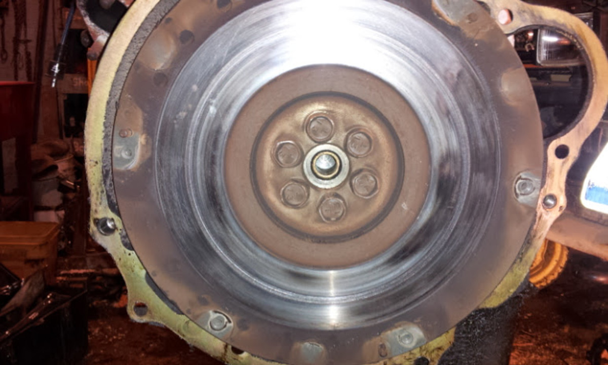 Damaged flywheel.
