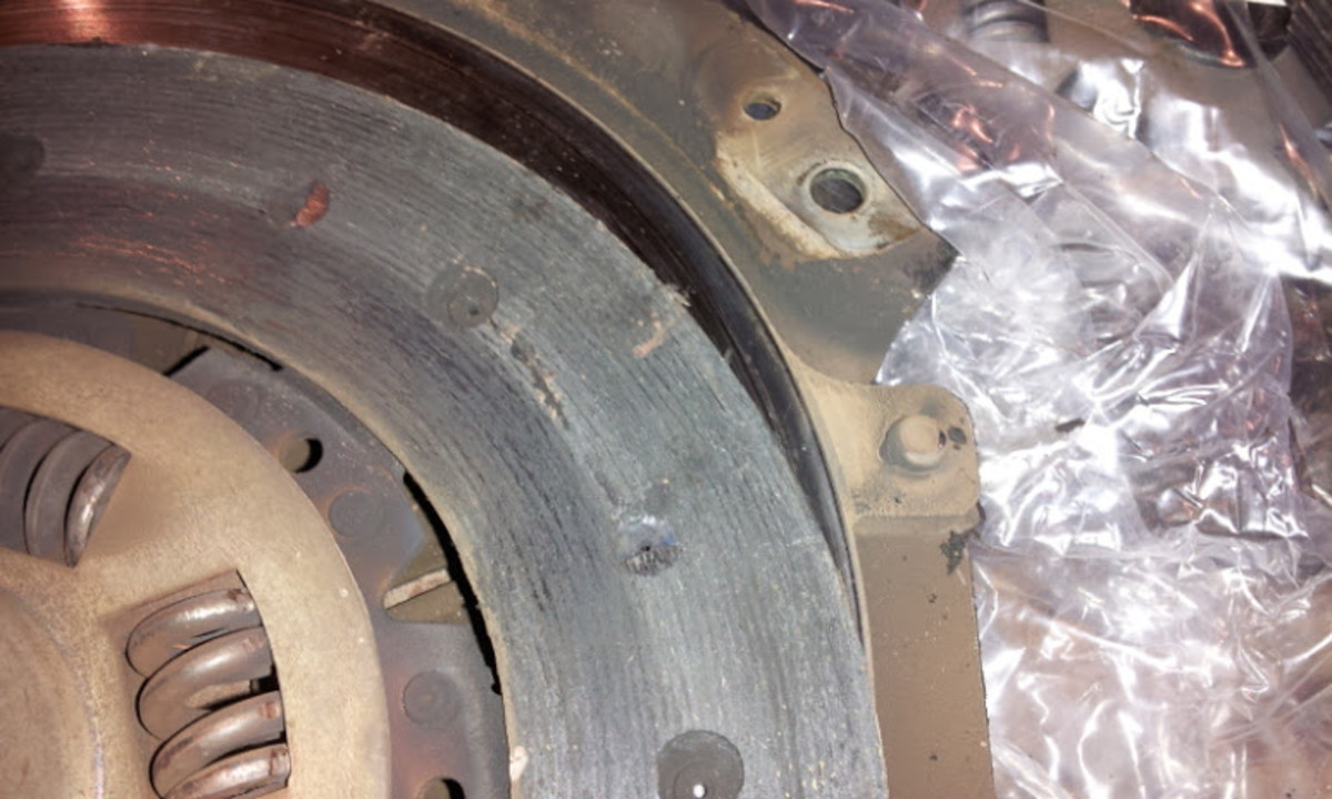 Bad looking clutch disk!