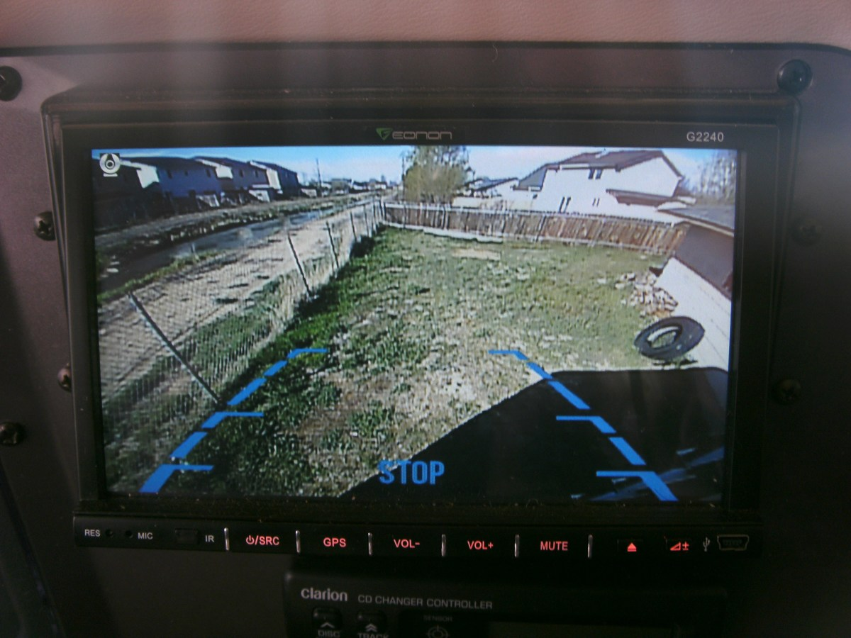 "Backup Camera.  The lines and ""stop"" indicator are both in the perfect position."