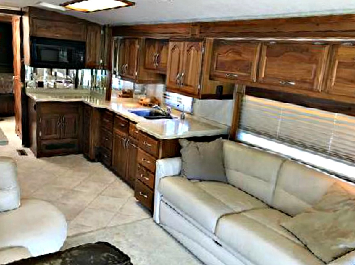 Slide rooms create a good deal of extra space in RVs.