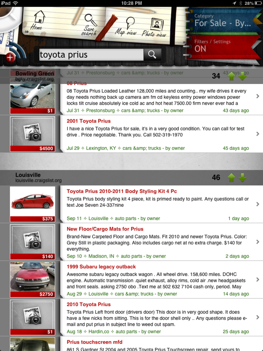 I use this app (Craigslist+) to search multiple Craigslist locations for the best used car deal.