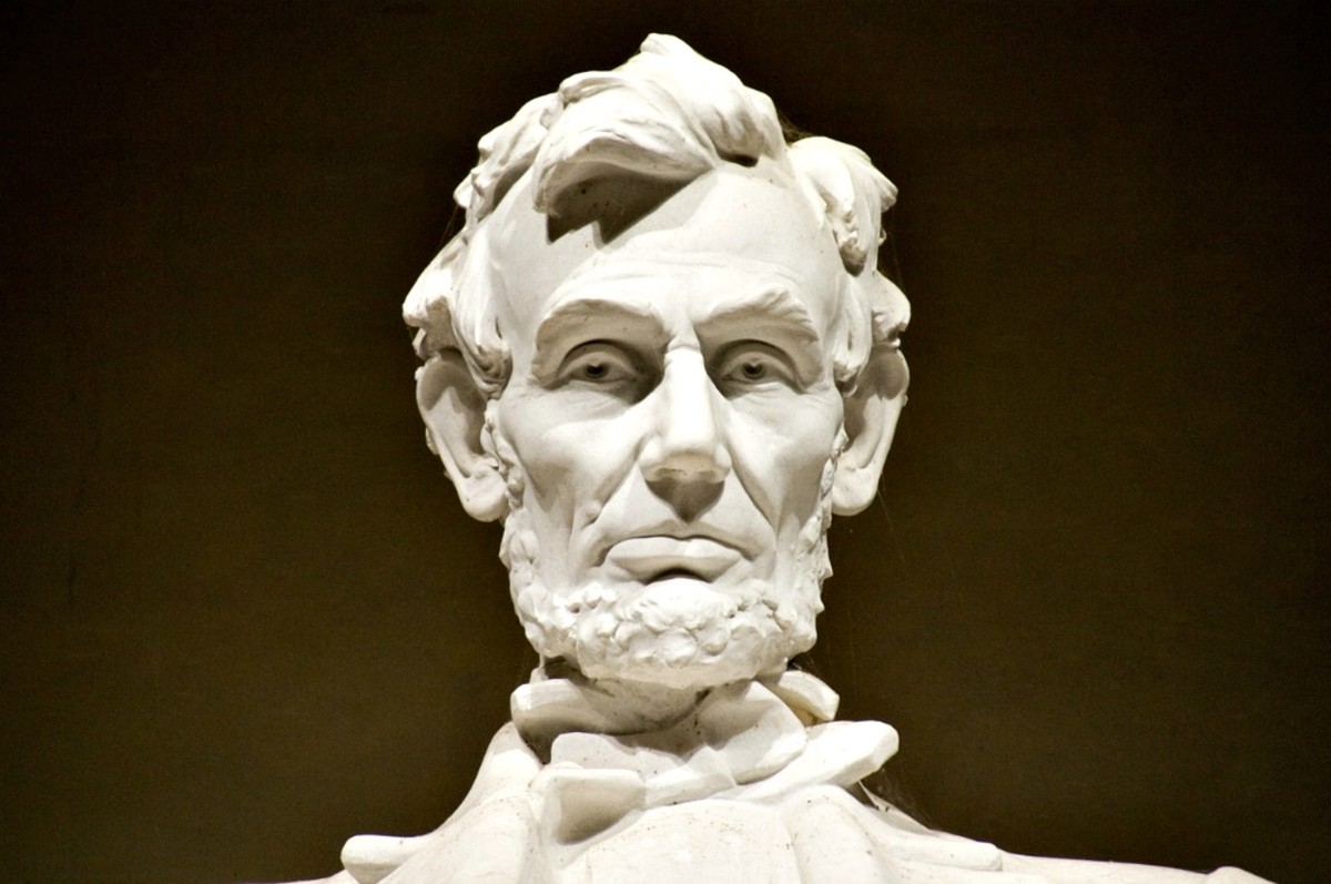 Abraham Lincoln oversees Washington, DC from the marble seat in his memorial.  Visiting him is awe inspiring.