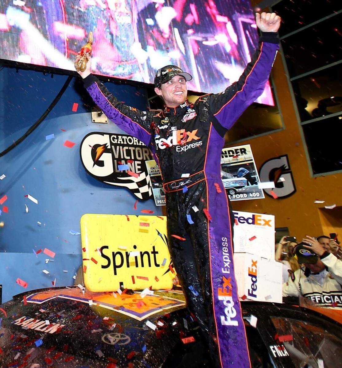 Hamlin won last year's season-ending race at Homestead; a win this year might also net him his first Sprint Cup title