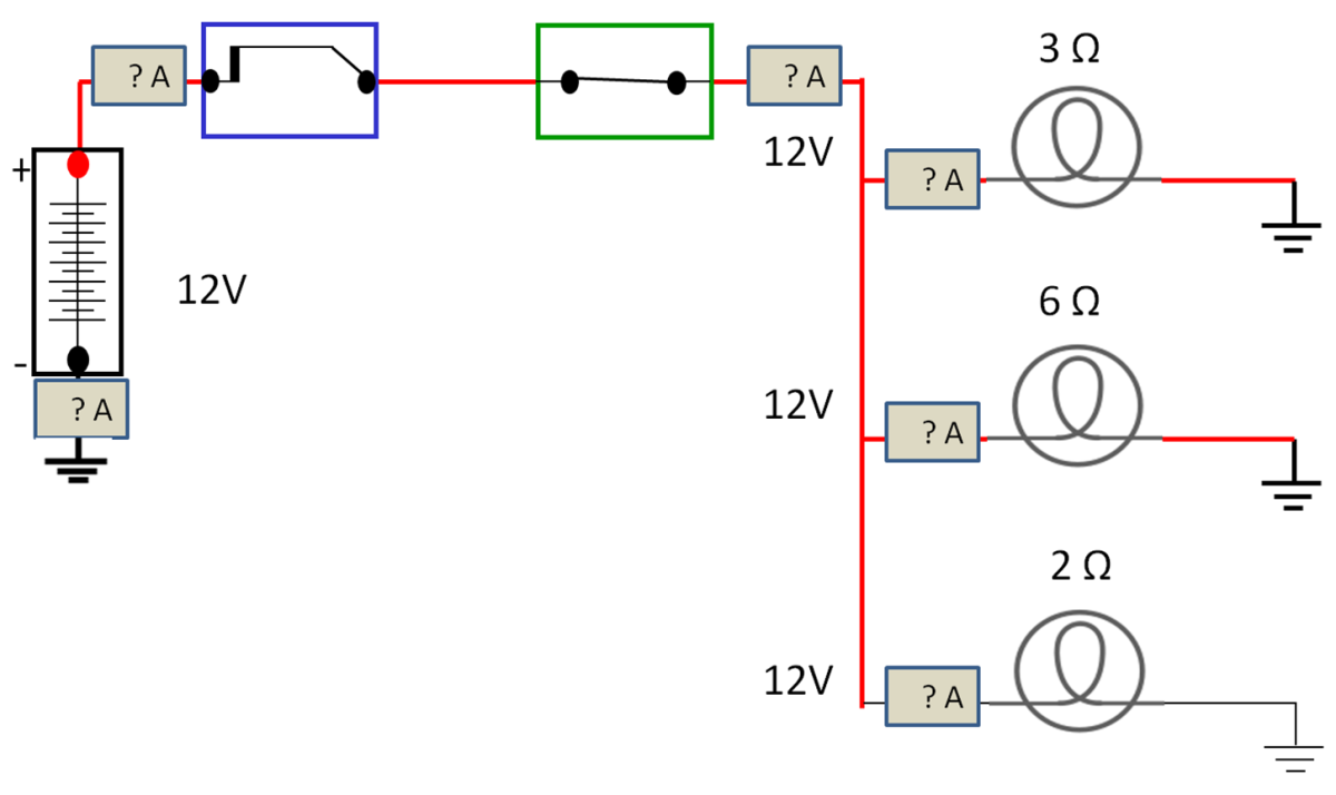 Three Parallel Circuits