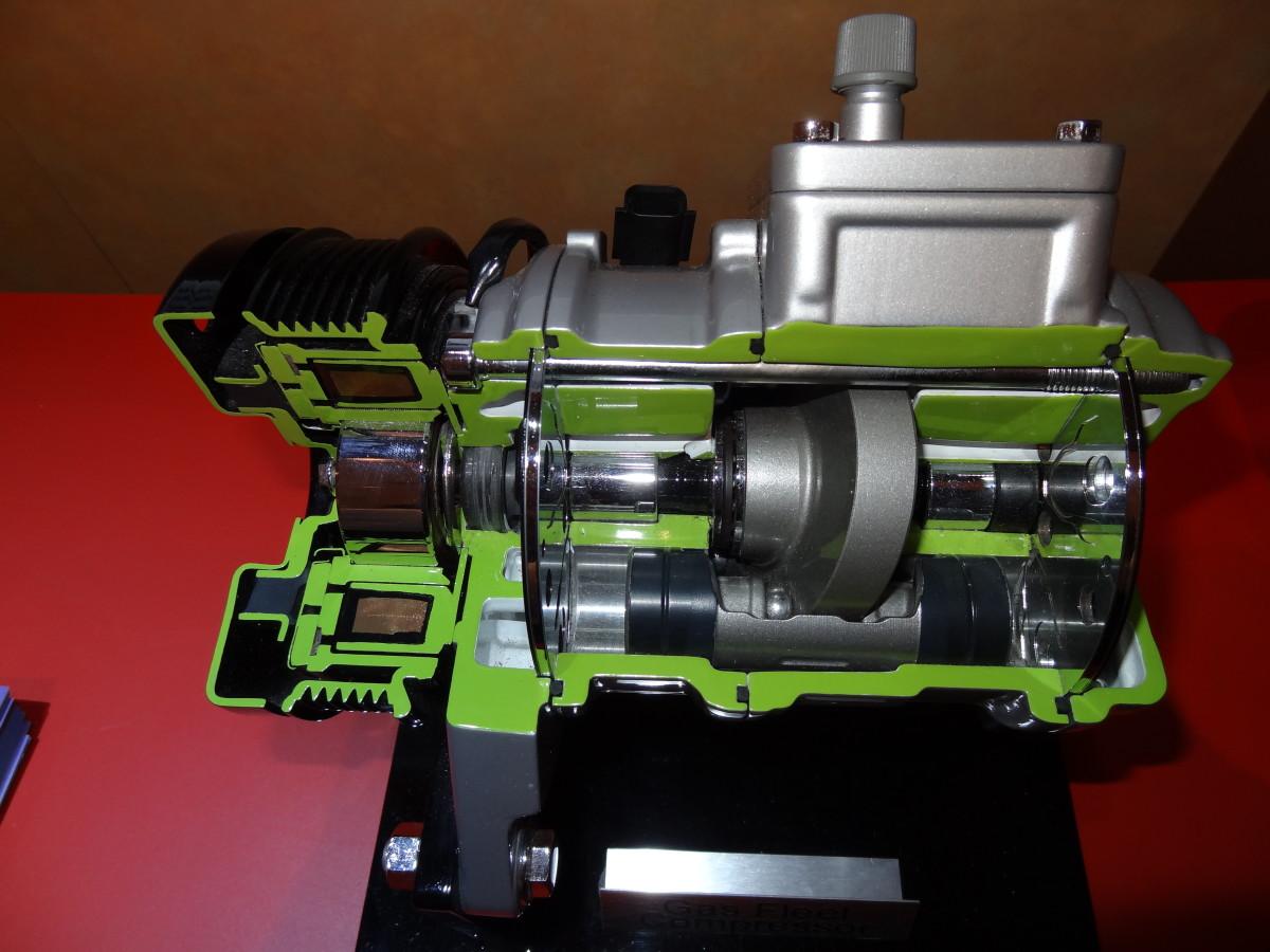 Angled Swashplate AC Compressor.