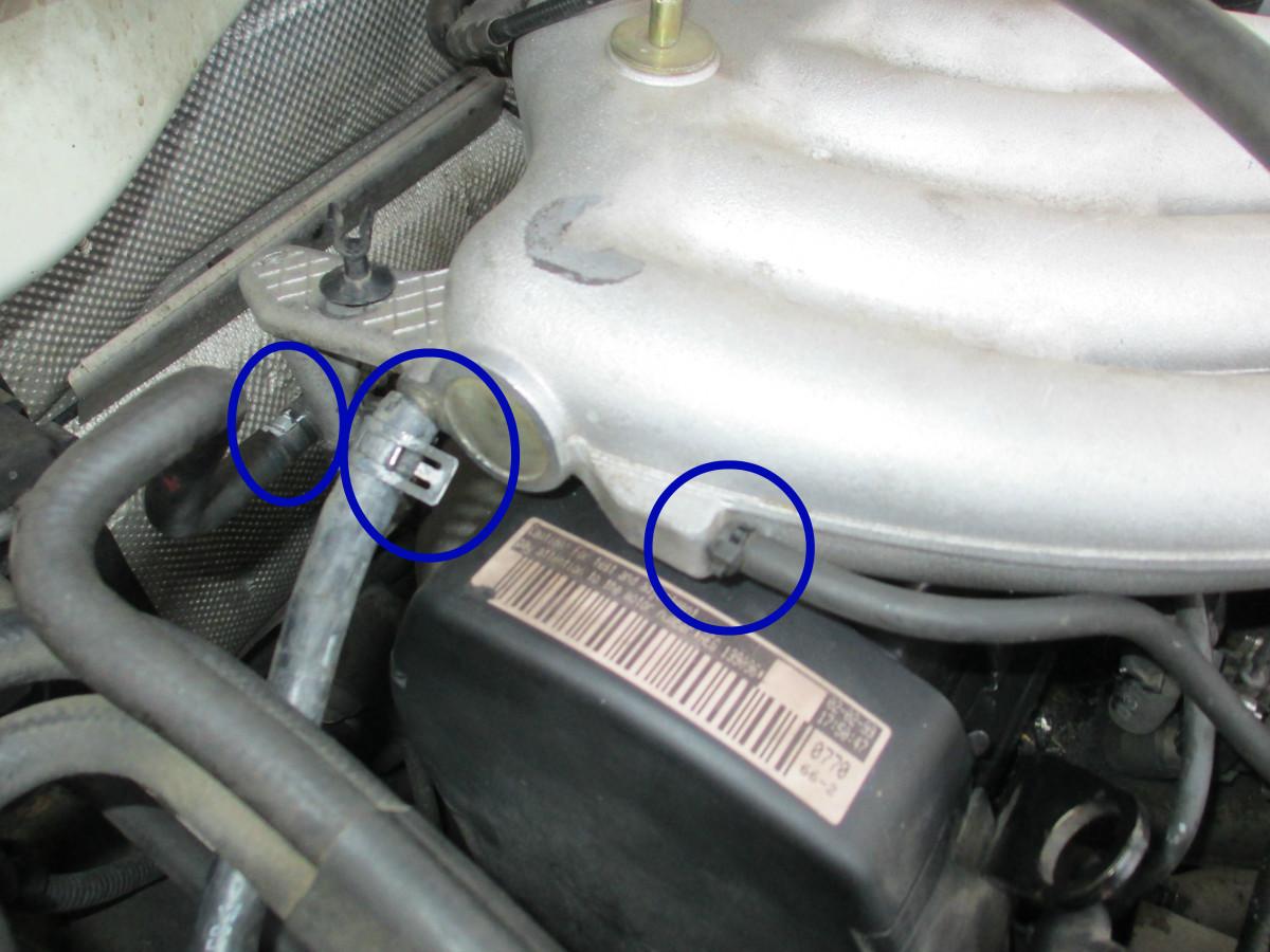 Passenger-side vac hoses
