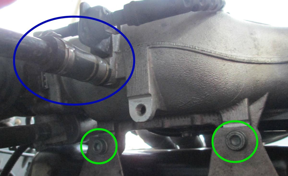 Hidden 6 mm hex bolts