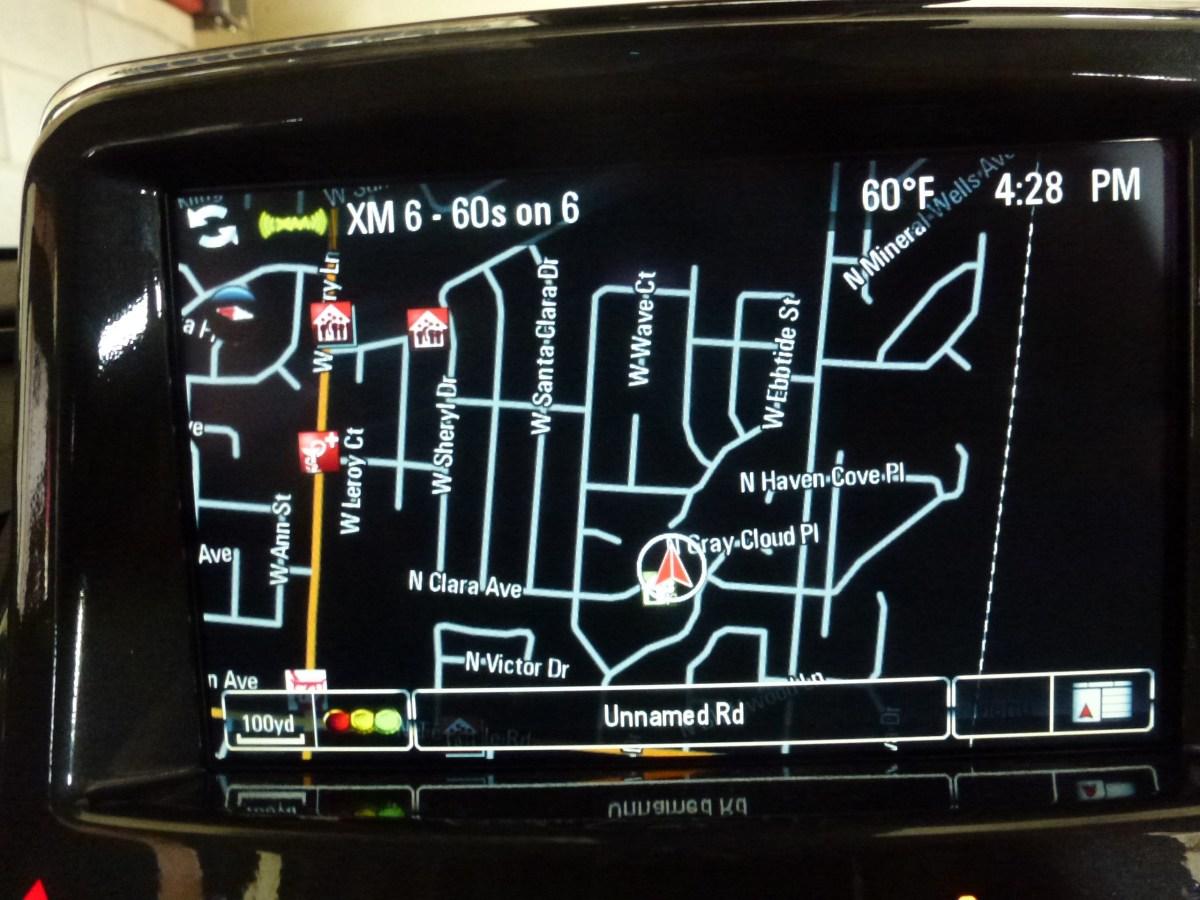Volt GPS screen
