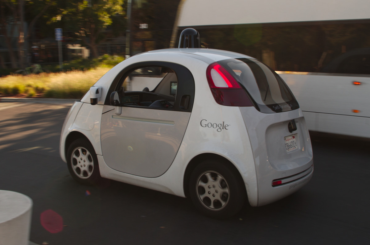 Google's completely autonomous prototype. It has no brake pedals or steering wheel. They're not street-legal... yet.