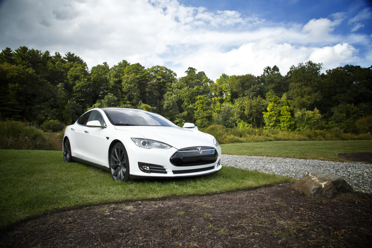 Pictured: Tesla Model S looking awesome and saving the environment