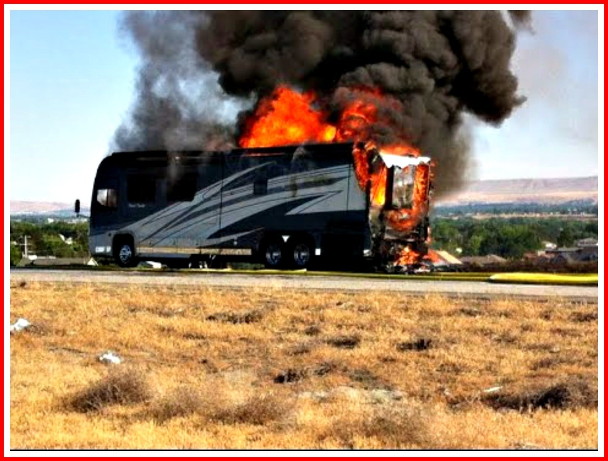 RV fires happen quickly.  You only have 20 seconds to get out, so don't dally!