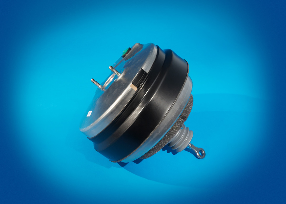 New vacuum-type brake booster.