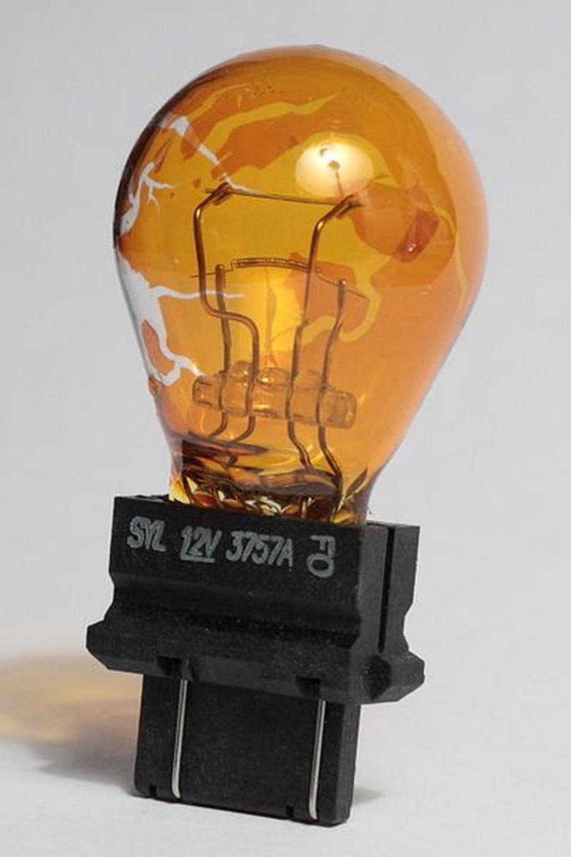 Light bulbs can wear out and stop working.