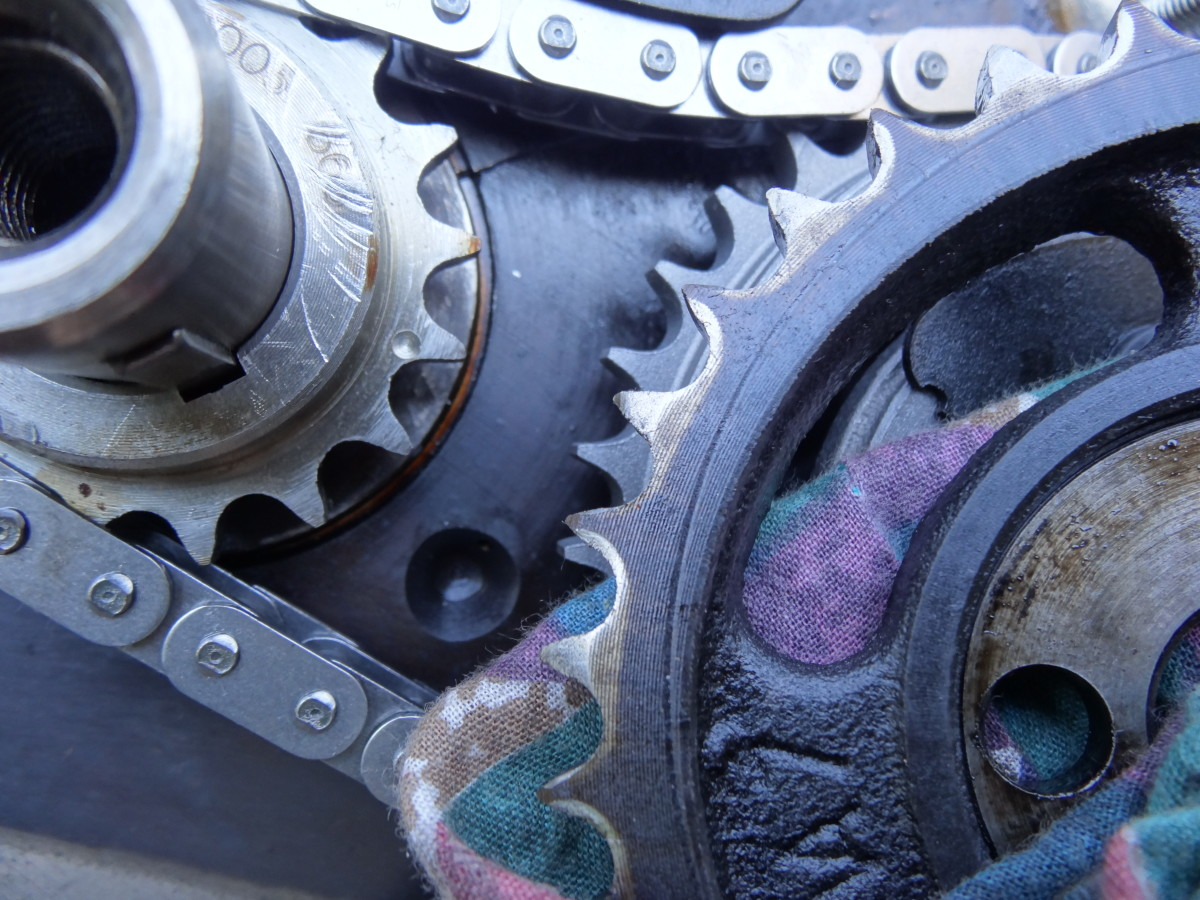 Worn timing sprockets will disrupt ignition timing.