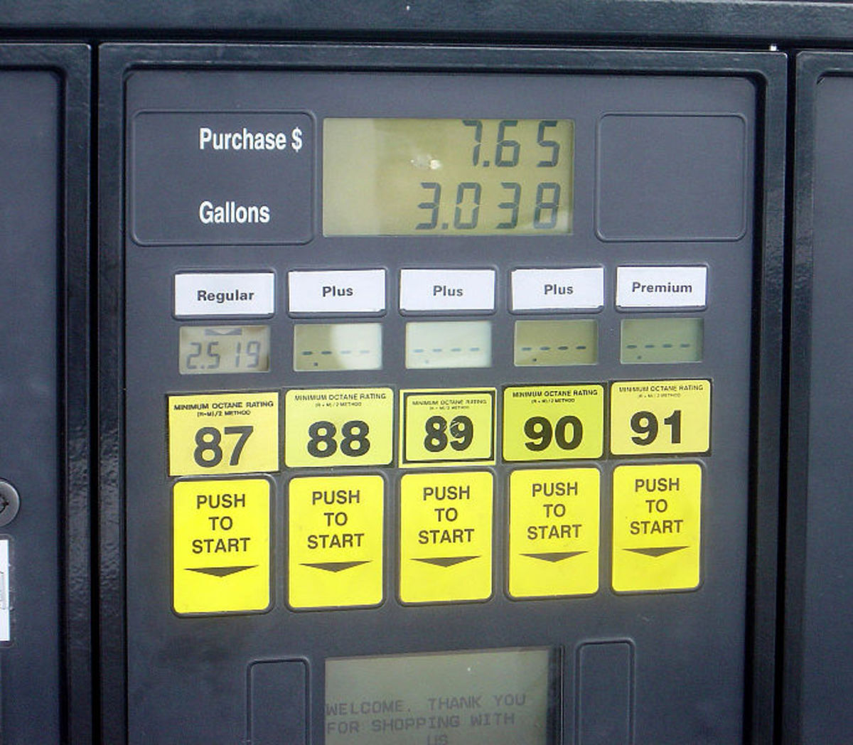 Choose the correct octane fuel for your engine.