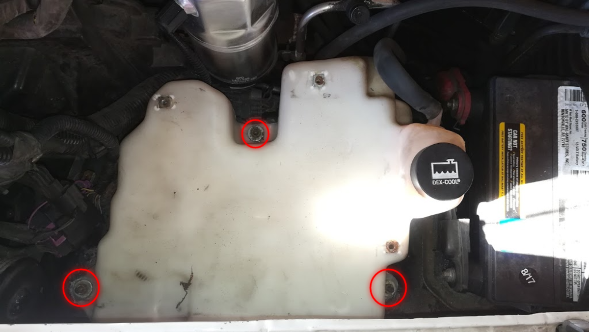 Chevy Blazer 4.3 Coolant Reservoir Bolt Location