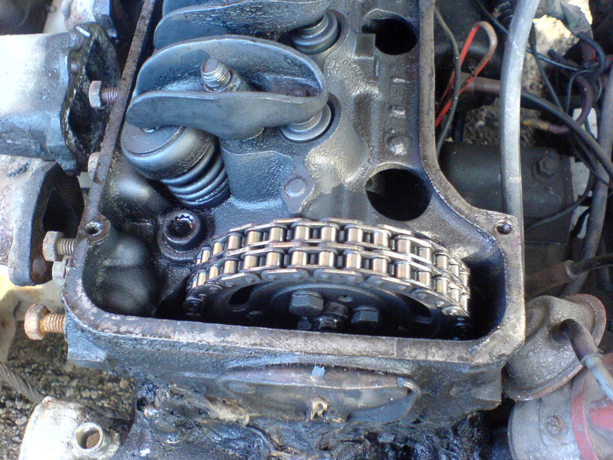 Some vehicles use a timing chain instead of a timing belt.