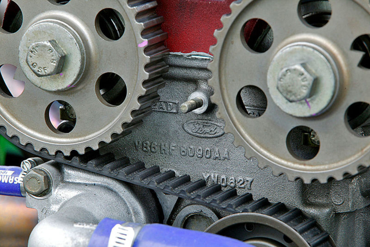 Properly align the camshaft and crankshaft sprockets when installing the new timing belt.