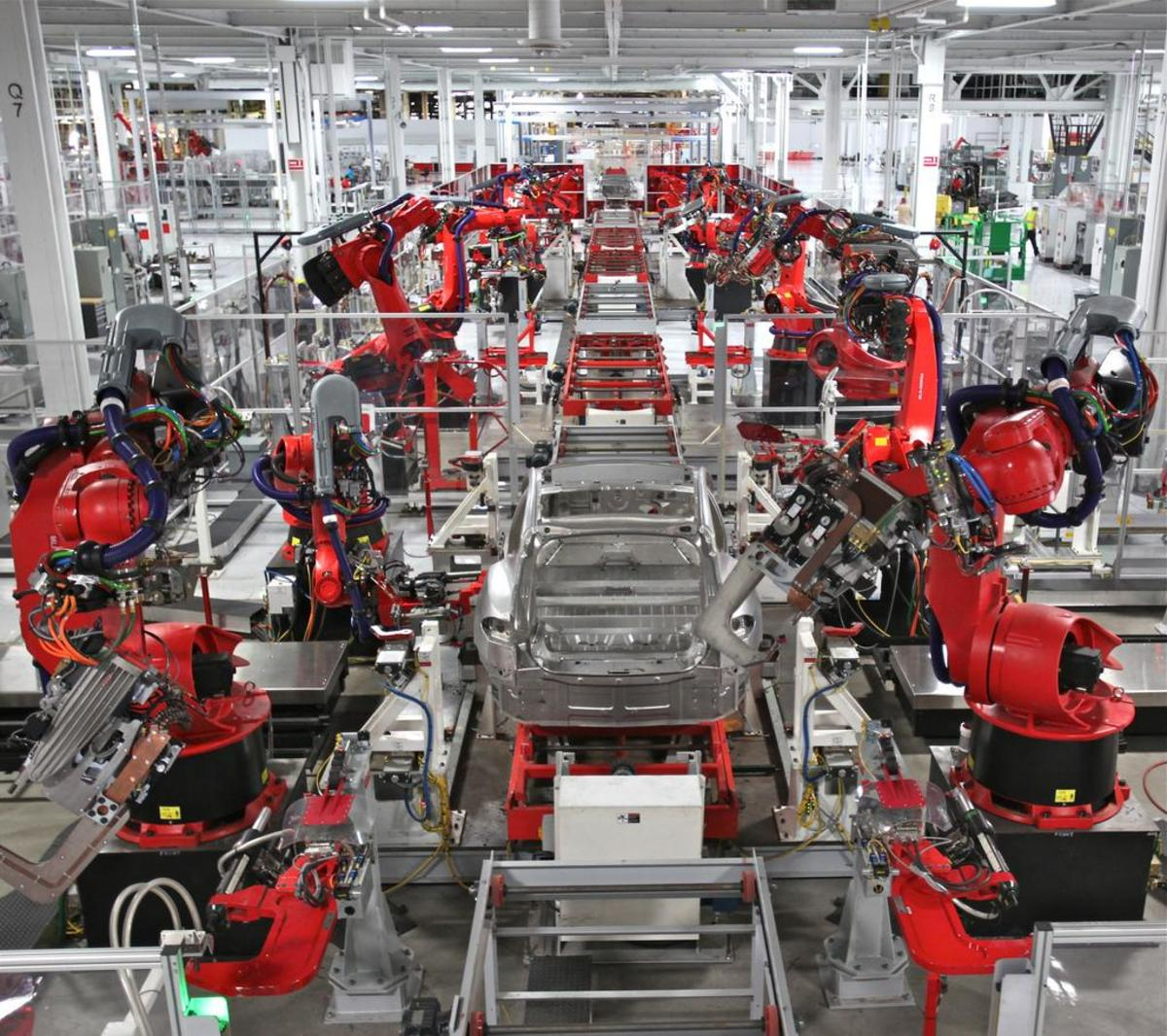 Tesla's robotic systems at work