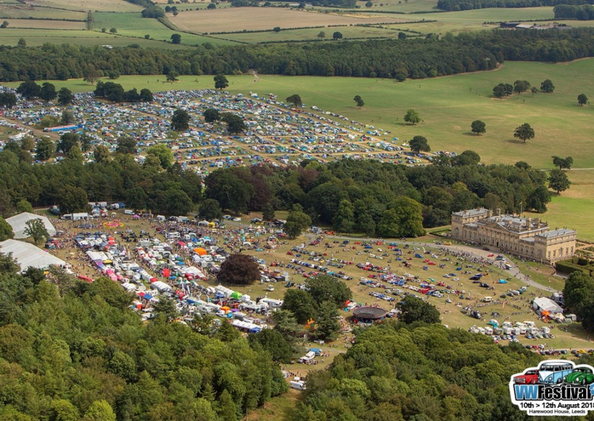 Camping for VW Festival is situated right next to the festival grounds themselves.