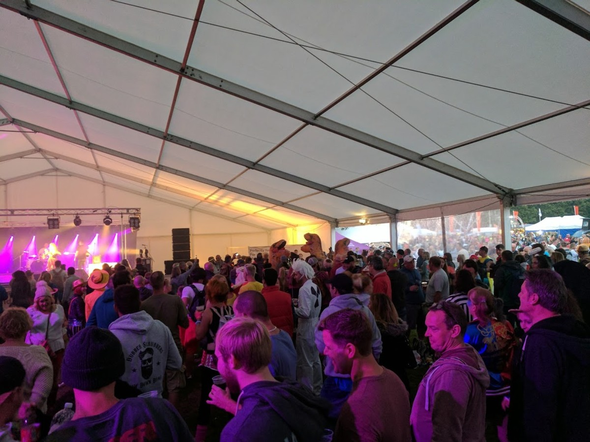 The main tent provides live music well into the evening.