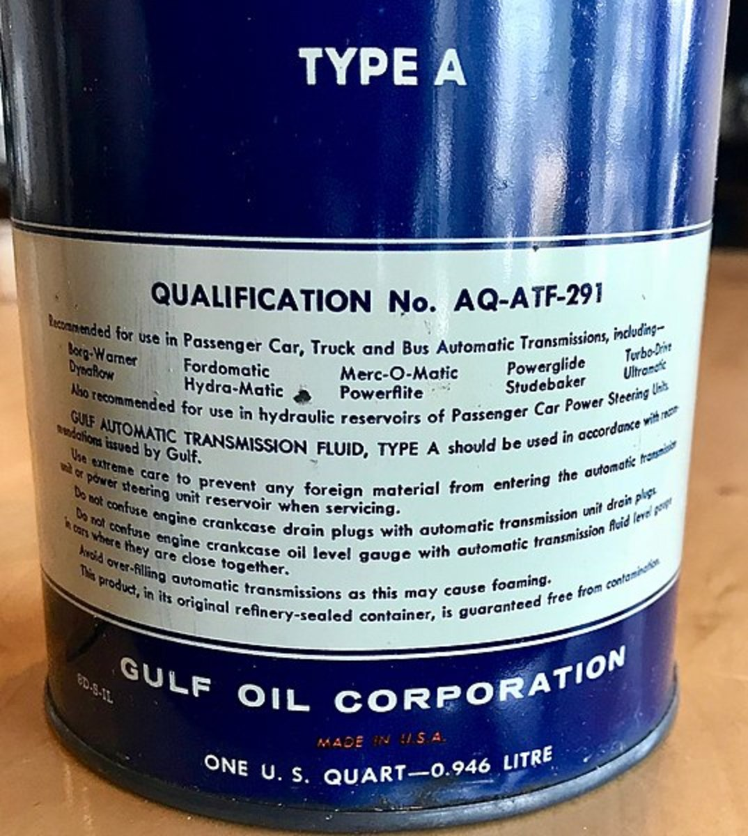 Use the correct transmission fluid for your application.