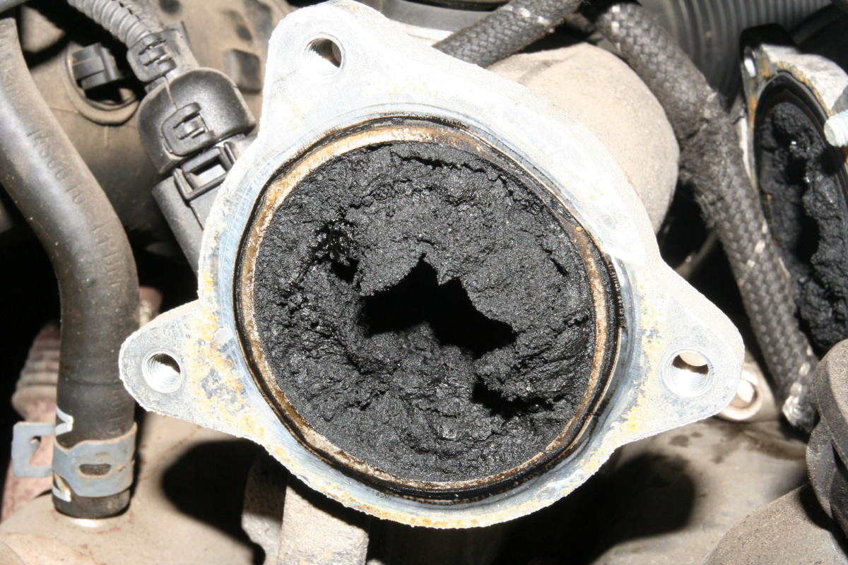 Carbon buildup inside the EGR valve and intake manifold passages can prevent the EGR form closing.