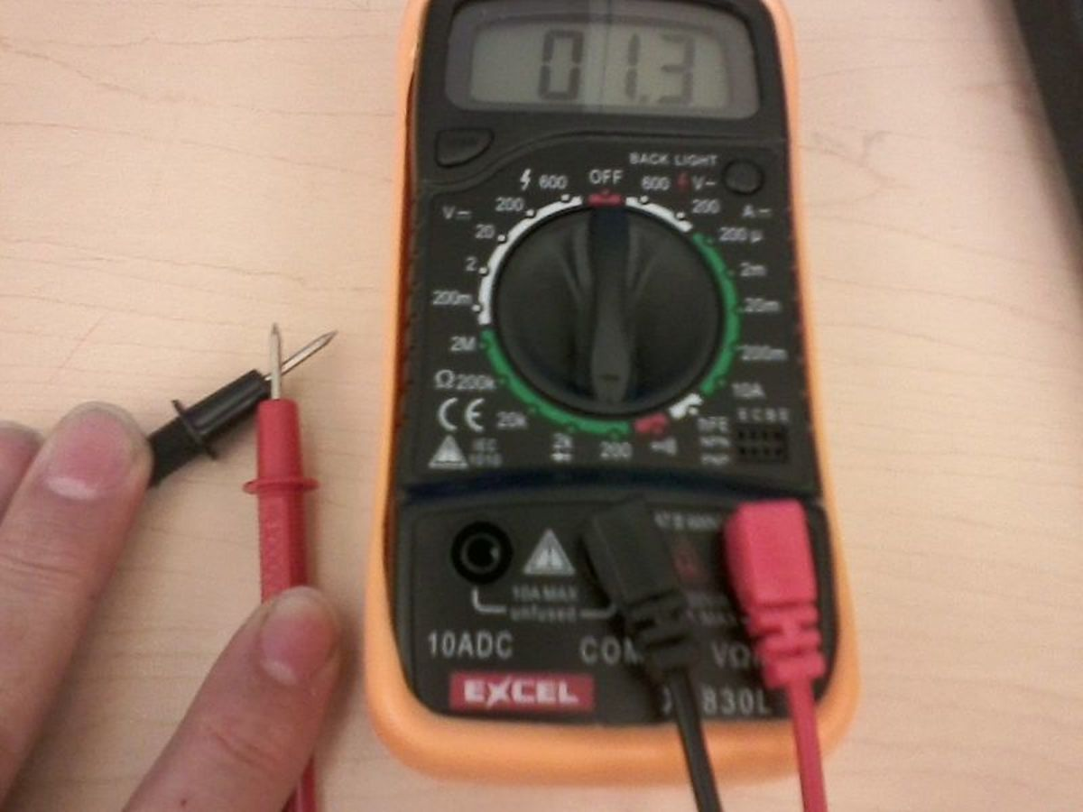 Set your DMM meter to Ohms to measure test the MAF's hot-wire.