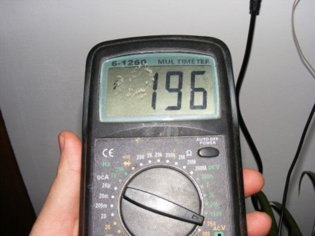 Use a digital multimeter to check voltage regulator operation and charging circuit voltage drop.
