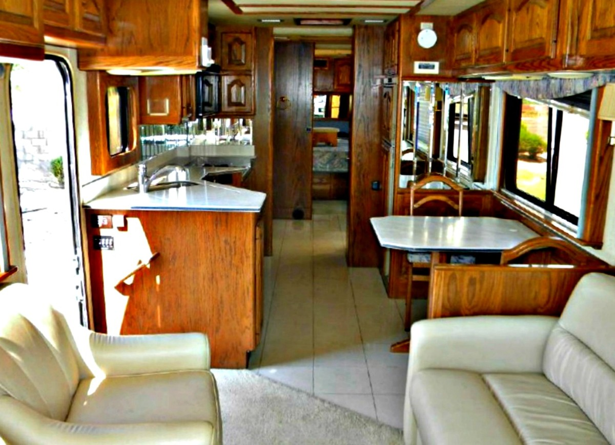 Side entry doors provide direct access to the galley.