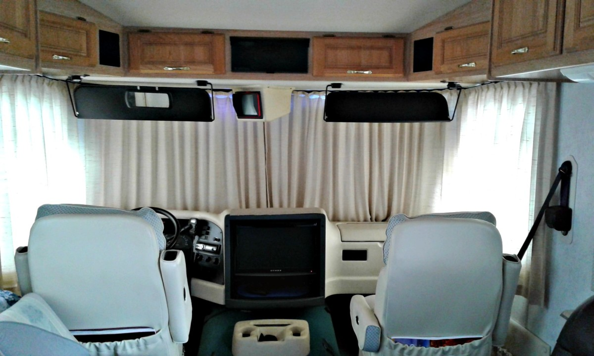Side entry doors provide more room and convenience in the front of the coach.