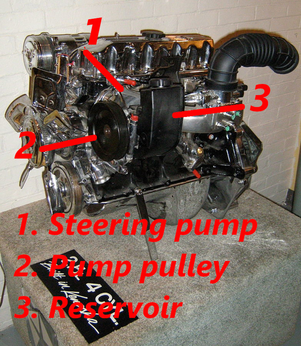 Check the steering pump for bubbles that may point to air in the system.