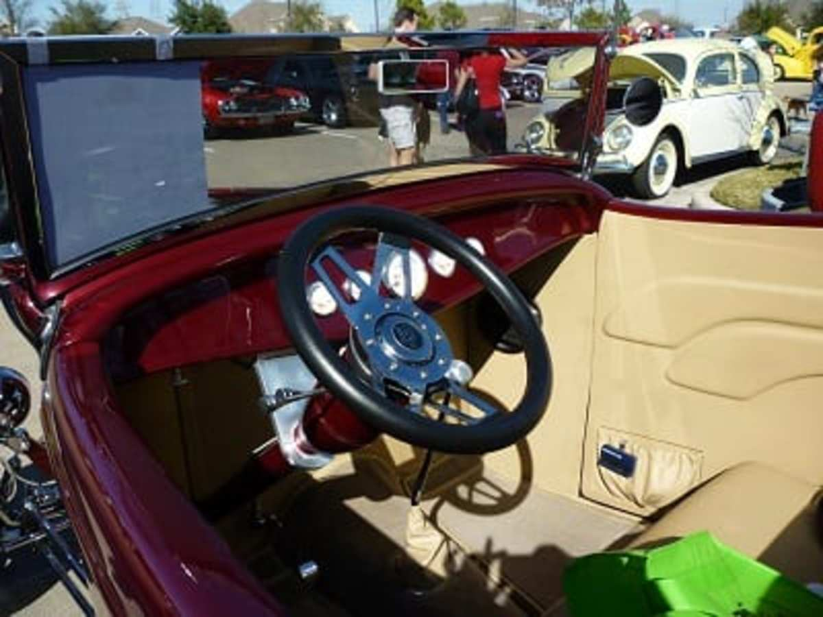 Interior of 1932 Ford Roadster