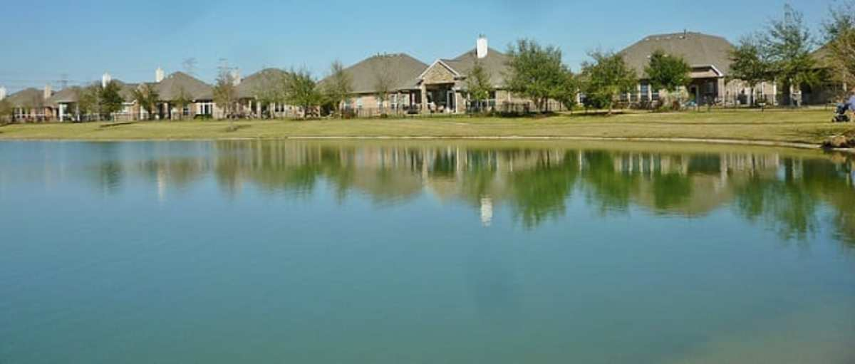 Some of the homes surrounding the lake