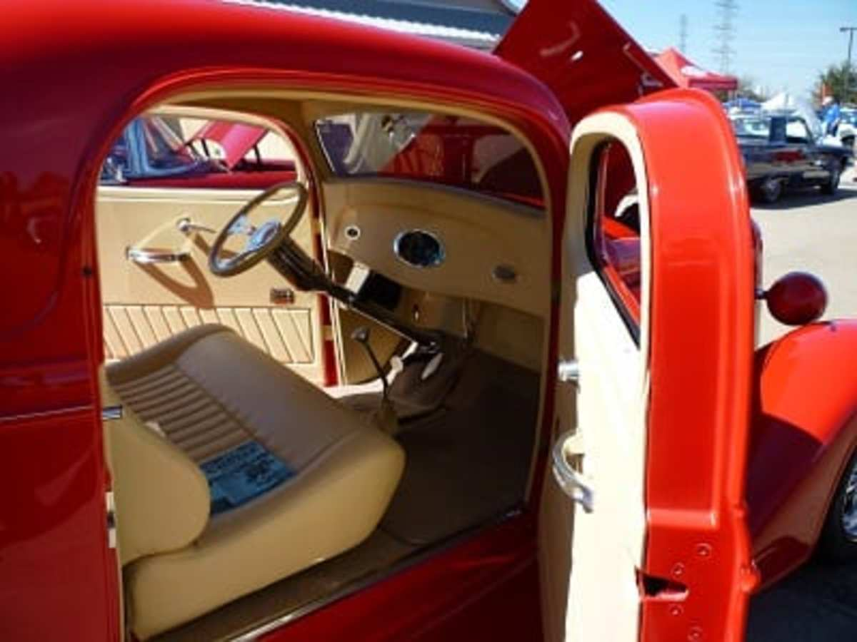 Interior of 1934 Chevy coupe