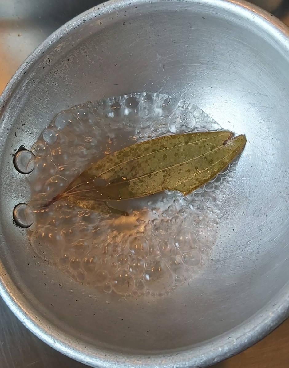 Cook till vinegar reduces by half. Switch off the heat.