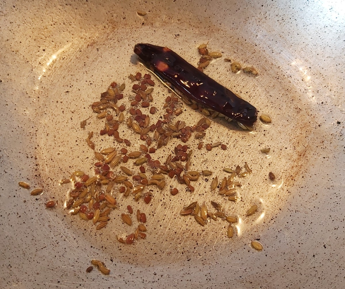 Fry for 1-2 minutes or until it turns brown.