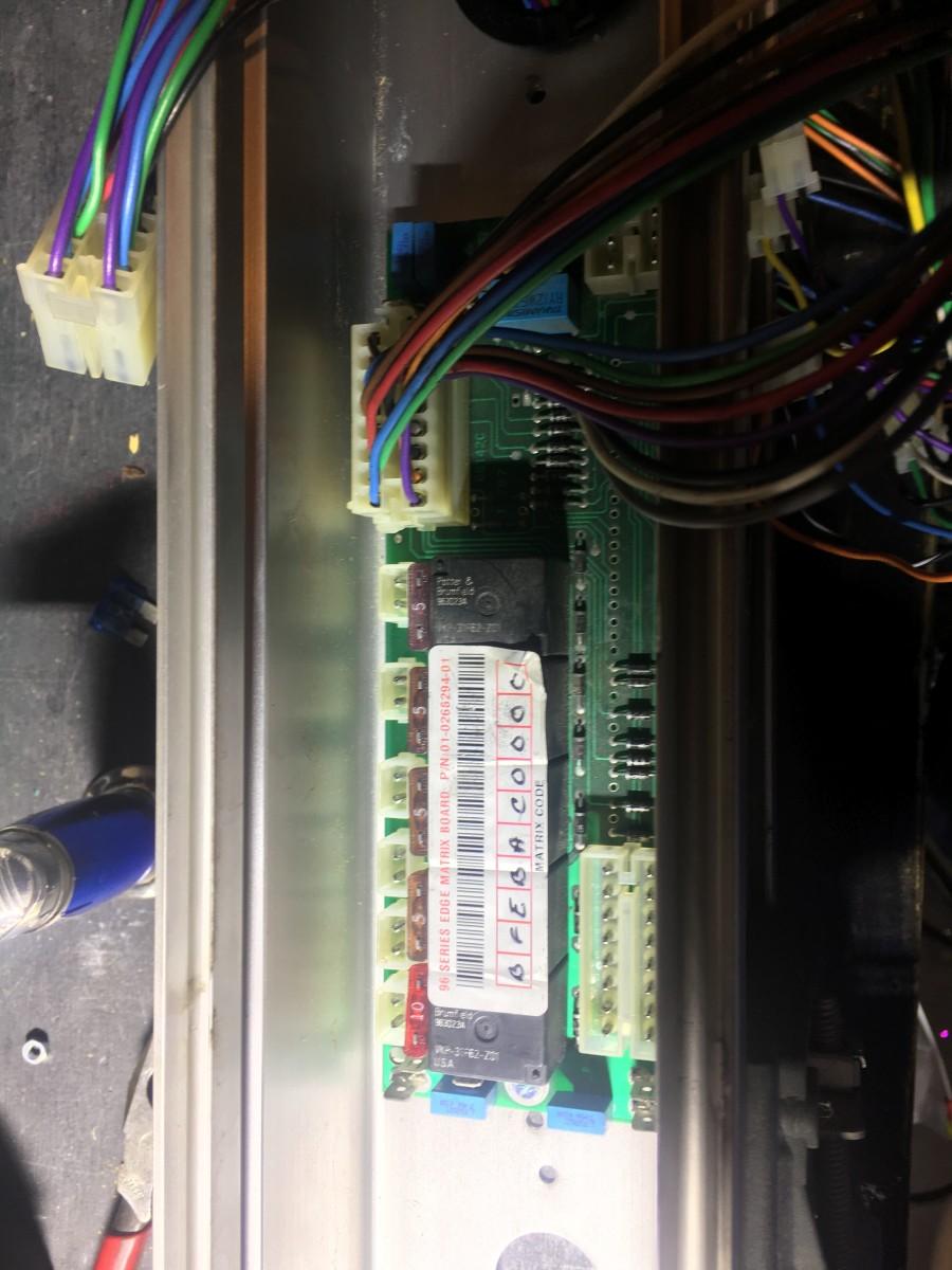 The 94 matrix board installed.
