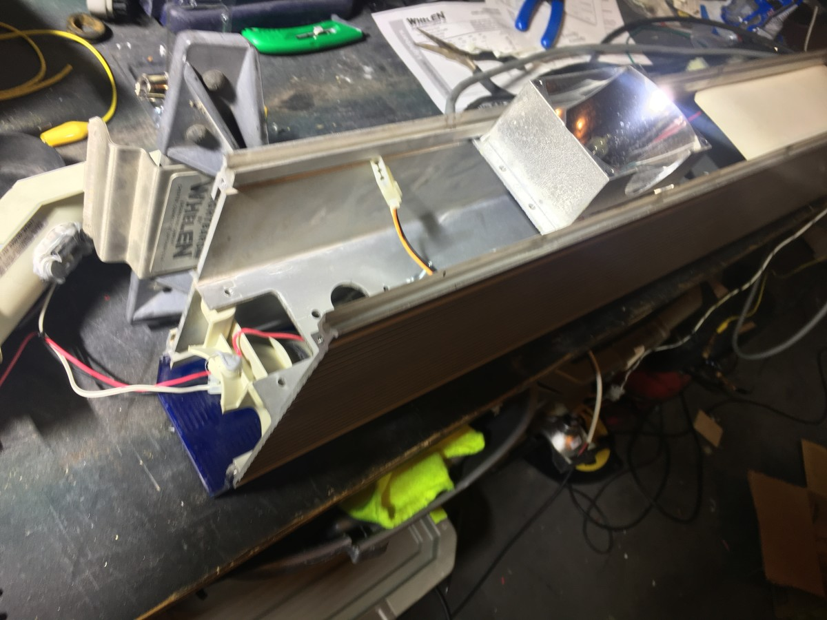Stripped out Edge lightbar.