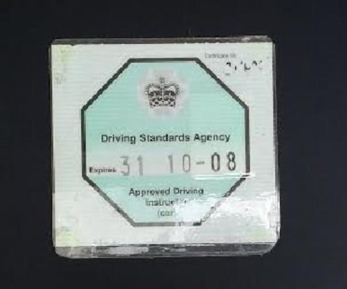 Approved Driving Instructor - the octagonal green badge is your ADI licence to teach!