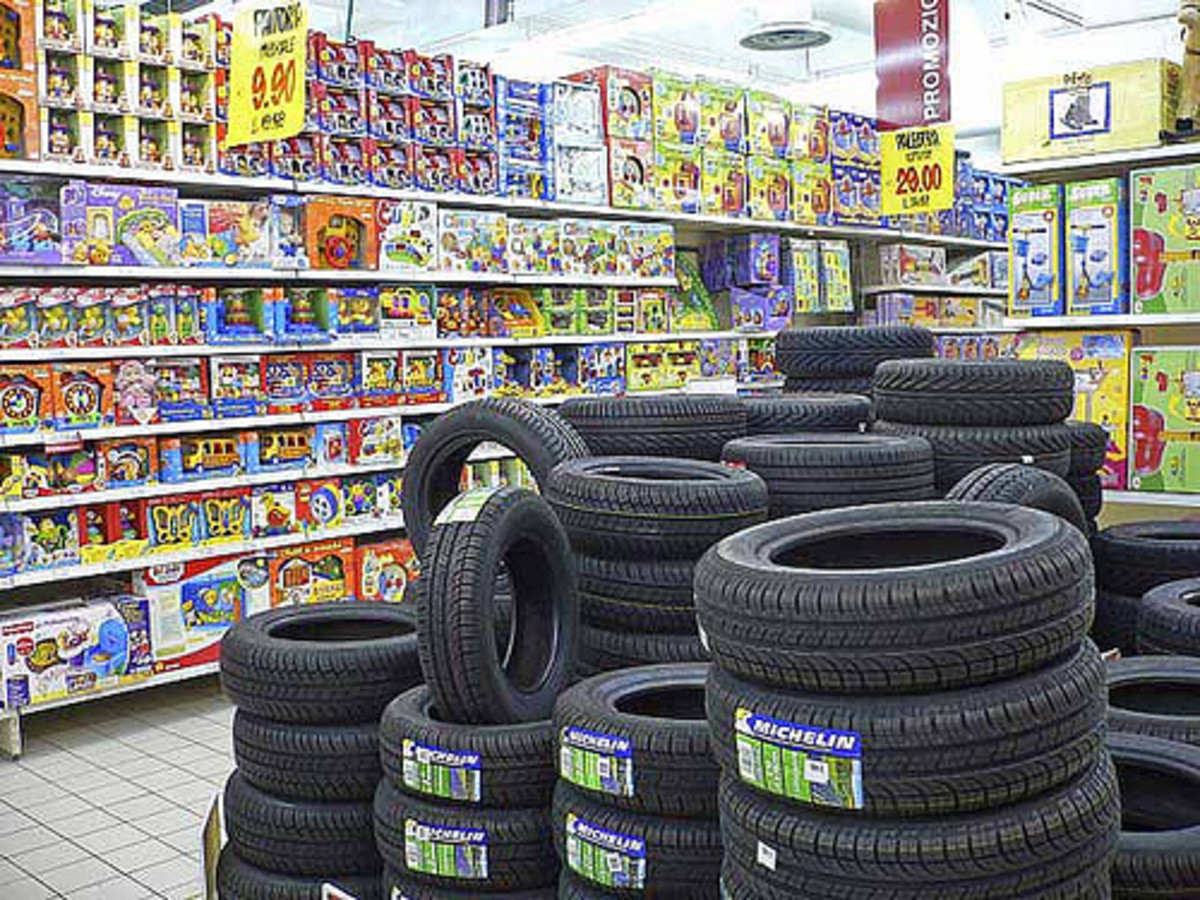 Tires for Sale in the Supermarket (Photo courtesy by brooy from Flickr)