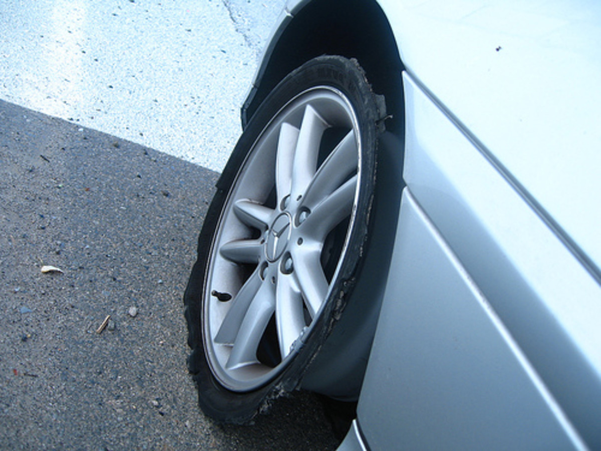Tire Blowout (Photo courtesy by chantastic from Flickr)