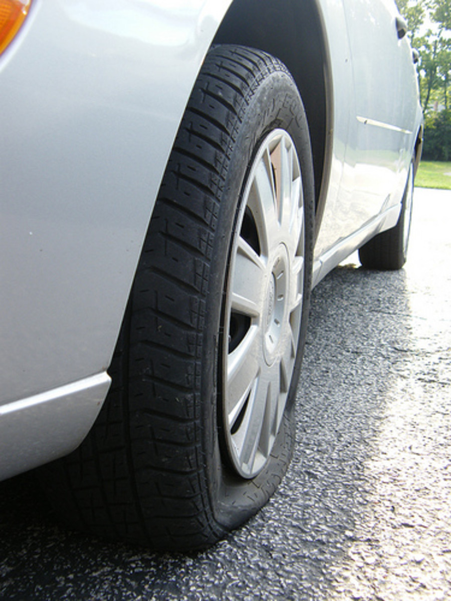 Flat Car Tire (Photo courtesy by lissalou66 from Flickr)
